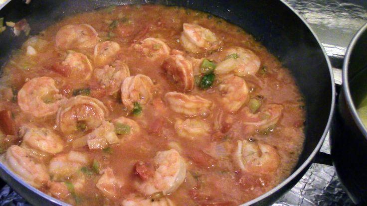 Delicioso plato de camarones guisados muy faciles de hacer   Delicious dish of stewed shrimp very easy to make