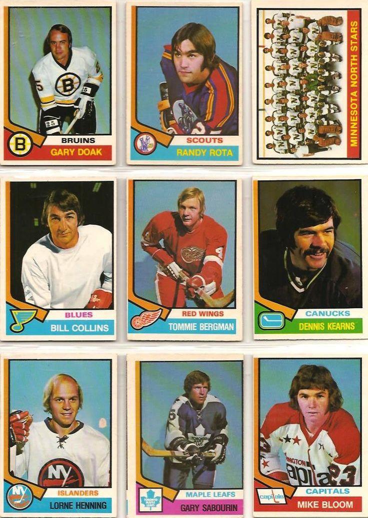 361-369 Gary Doak, Randy Rota, Minnesota North Stars, Bill Collins, Tommie…