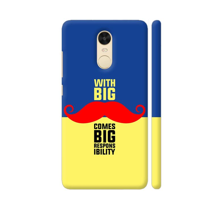 Cool new product With Big Moustach...   Check out http://www.colorpur.com/products/with-big-moustache-comes-big-responsibility-in-blue-yellow-xiaomi-redmi-note-4-case-artist-designer-chennai?utm_campaign=social_autopilot&utm_source=pin&utm_medium=pin