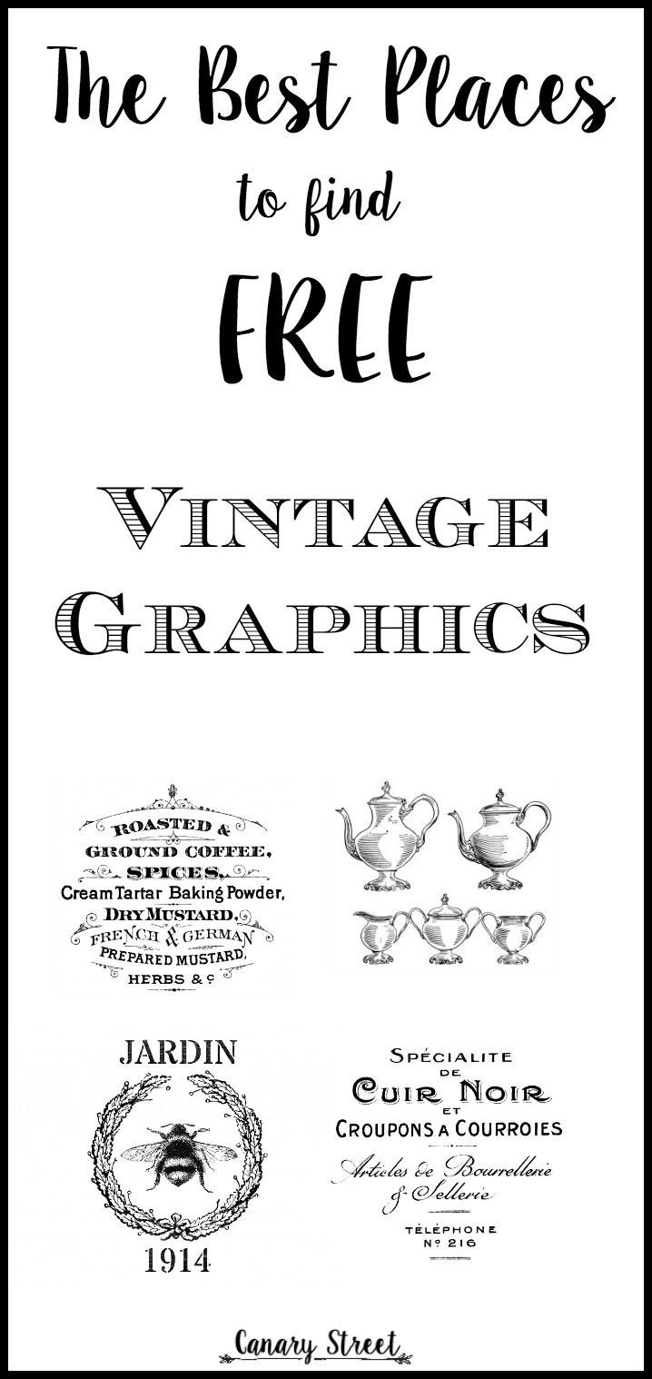 the best places to find free vintage graphics pin..... Different sites