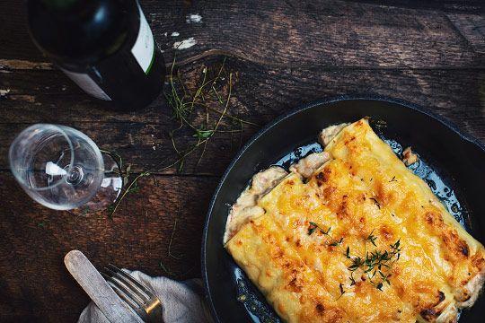 Cannellonis à la langoustine, au homard et aux crevettes avec sauce au fromage - Le Coup de Grâce