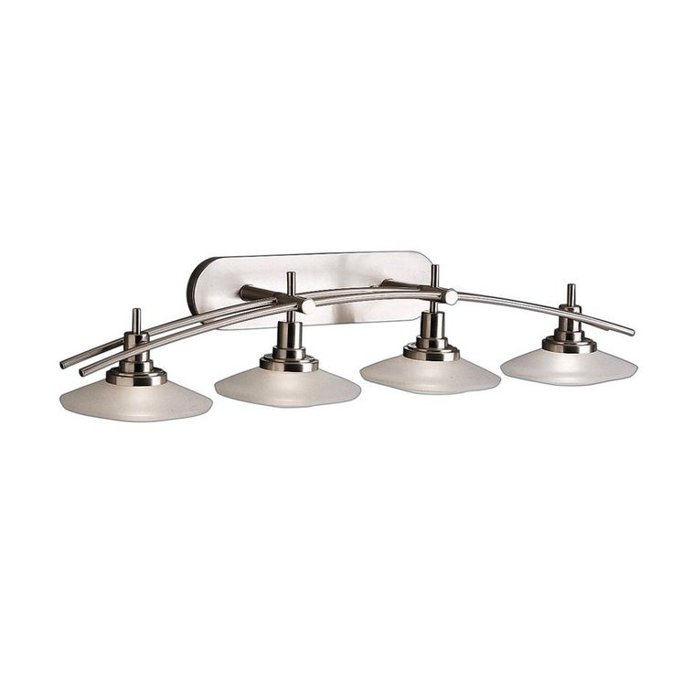 Kichler Lighting 4-Light Structures Brushed Nickel Modern Vanity Light