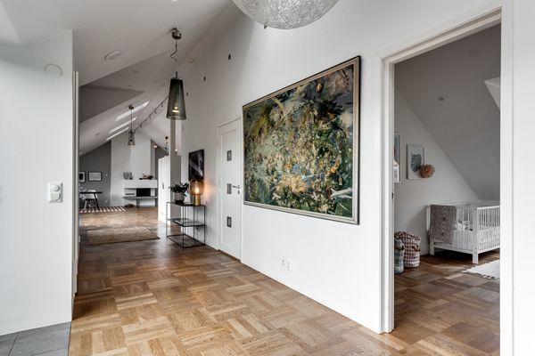 Exclusive Attic Apartment Design In Stockholm Homemydesign In 2020 Attic Apartment Attic Renovation Attic Remodel