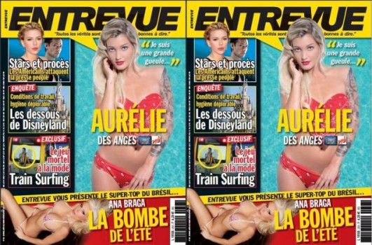 Les Anges 5: Aurélie pose pour Entrevue !