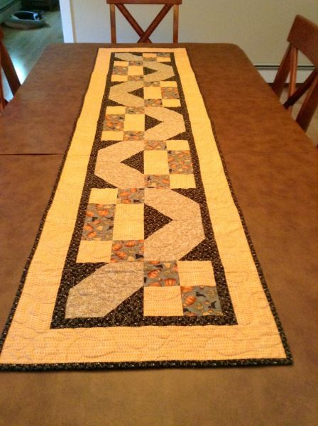 Autumn Table Runner shared on MyQuiltPlace.com by Penny Whitney-Asdourian