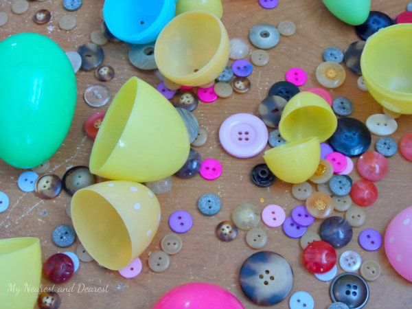 Buttons and Eggs! Simple Easter Activity for Preschoolers - My Nearest And Dearest