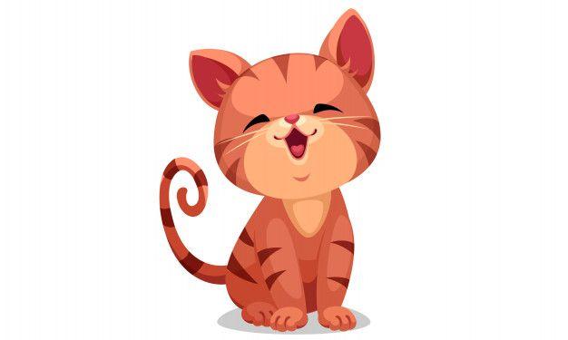 Cute Little Kitten Vector Illustration Vector Illustration Cute Little Kittens Little Kittens