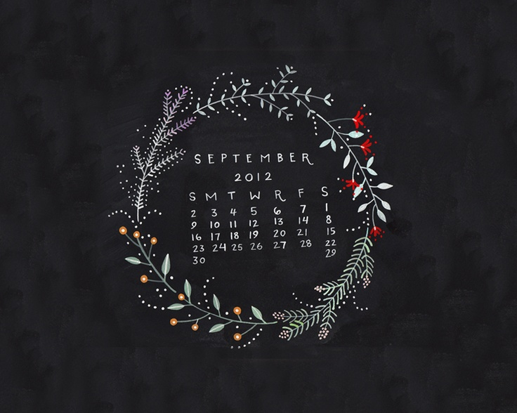 Dear Friend: September Desktop Calendar: Invitations Saveth, Illustrations Inspo, September2012 Computers, Calendar Design, Dear Friends, September Desktop, Desktop Wallpapers, September 2012, Desktop Calendar