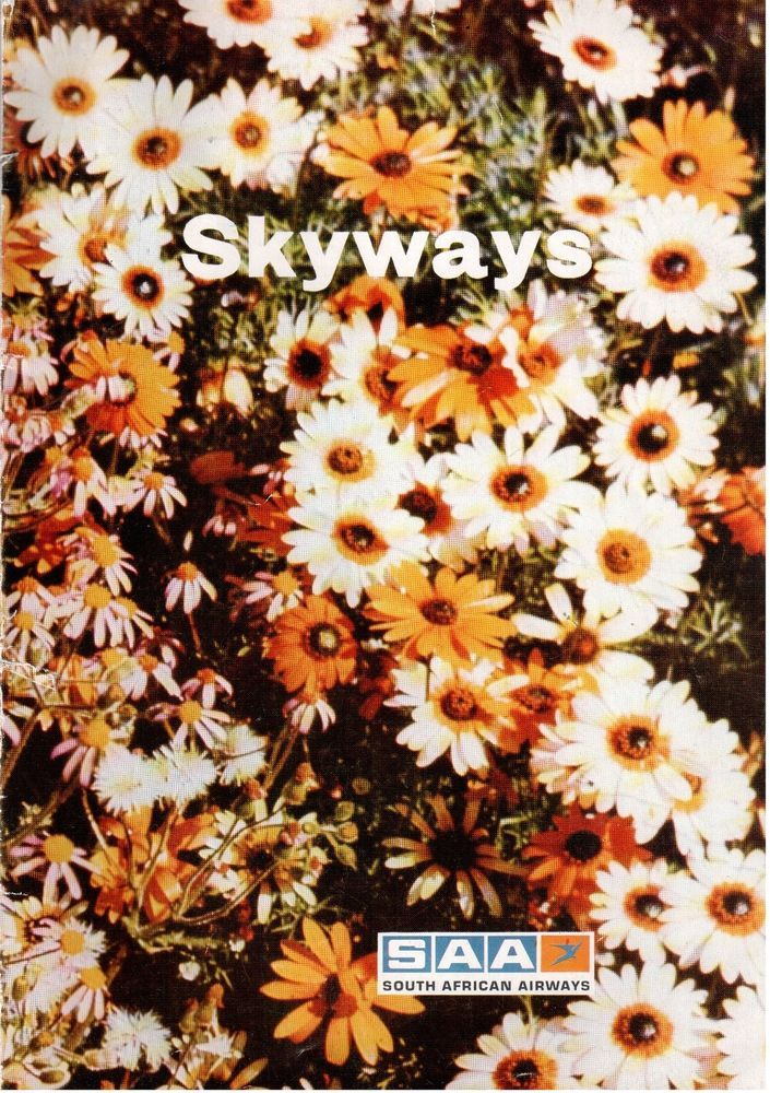 SAA SOUTH AFRICAN AIRWAYS SKYWAYS INFLIGHT MAGAZINE APRIL 1972 SAL