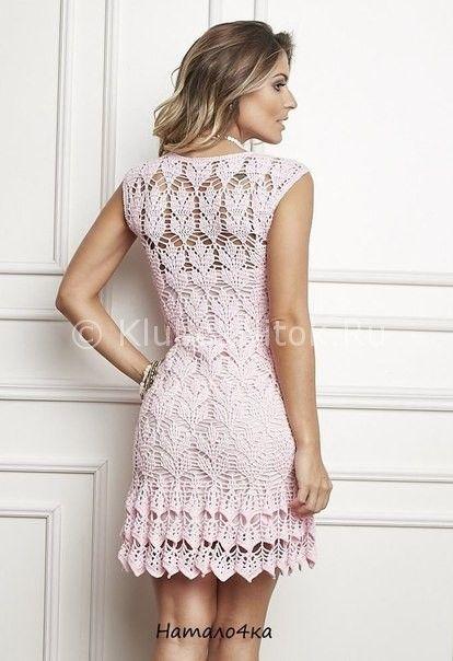Нежное платье крючком | Вязание для женщин | Вязание спицами и крючком. Схемы вязания.