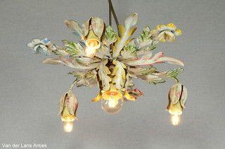 Italiaanse plafonniere 26349 bij Van der Lans Antiek. Meer antieke lampen op www.lansantiek.com