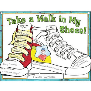 Ready-To-Decorate™ Take A Walk In My Shoes! Posters..great connection to walk two moons