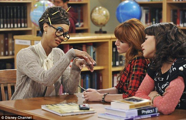 """Shake It Up (March 25, 2012, TV series), """"Parent Trap It Up."""" Tyra Banks appears in a cameo as Miss Burke, a school librarian with pencils in her hair, oversized glasses, and a cardigan. She helps Rocky Blue (Zendaya) and CeCe Jones (Bella Thorne) come up with a plan to create the right circumstances for CeCe's father to propose marriage again to her mother. http://www.imdb.com/title/tt2169555/"""