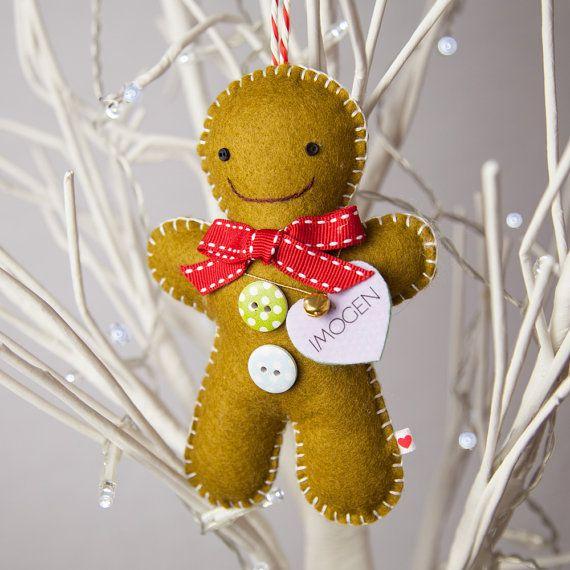 Personalised Gingerbread Man Tree Decoration