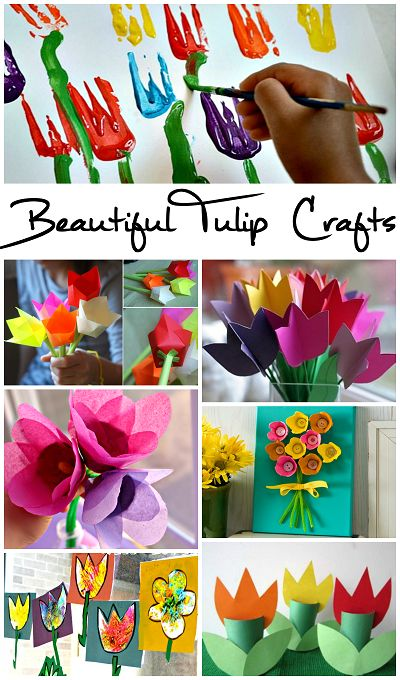 Beautiful Tulip Crafts that Kids Can Make.