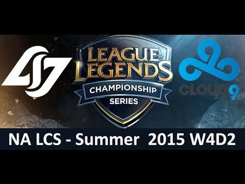CLG vs C9 NA LCS Championship series Summer Split 2015 W4D2 Counter Logic Gaming vs Cloud 9 Game Hig