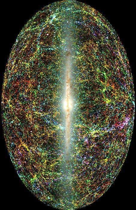 Amazing view of the entire #MilkyWayGalaxy with the #Universe as a backdrop!