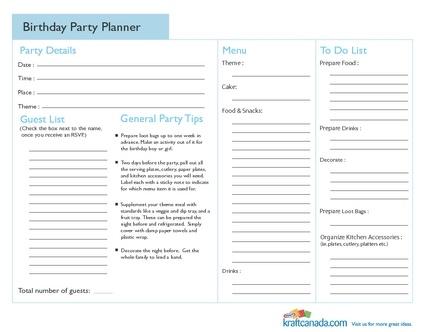 109 Best Party Planning Checklist Images On Pinterest Birthday   Birthday  Planner Template