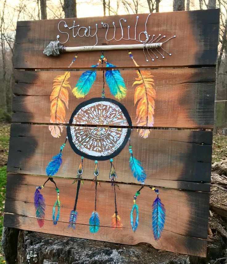 Excited to share the latest addition to my #etsy shop: Rustic Dream Catcher Wood Stay Wild Wall Art, Boho #WoodPallet Wall Art, Wire Art, #Arrow #Wood #Wall #Art #HandPainted #DreamCatcher #Wireart #art #painting #mothersday #uniquewallart #giftideas #homedecor