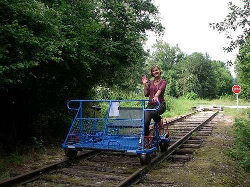 Meuse Vélo Rail à Consenvoye.