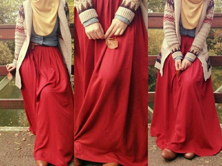 Red!! hijab style--> want this please :)