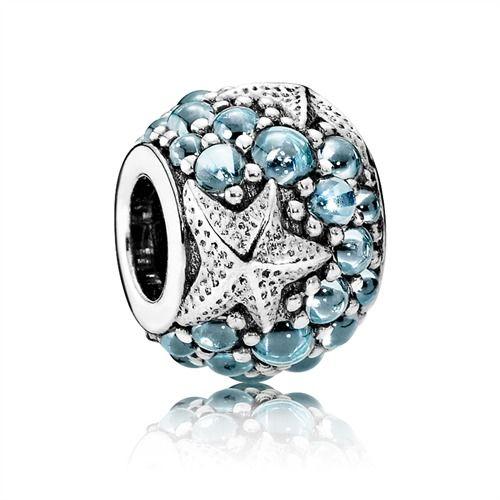 Pandora Seestern mit Zirkonia Ocean 791905CZF https://www.thejewellershop.com/ #pandora #charm #seestern #blue #silver #zirkonia #schmuck #jewelry #silber