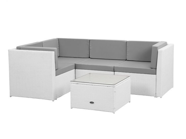 ROLLS Grupp Kombo 1 Konstrotting Vit/Grå i gruppen Utomhus / Utemöbelgrupper / Loungegrupper hos Furniturebox (100-64-85422)