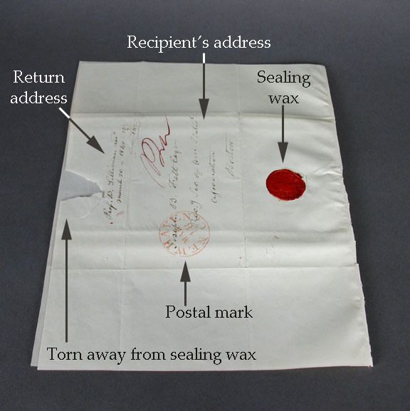 How to post a letter, 19th century style.