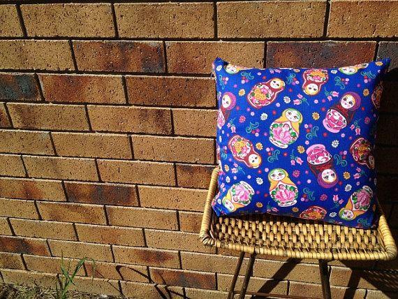 Kate Bushion. 40x40cm Babooshka Doll Cushion $AUD25
