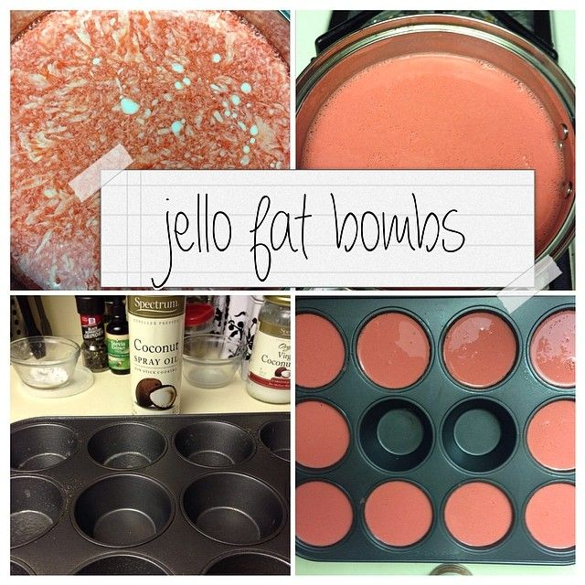 """I was surprised by all the likes on my jello fat bomb picture before, so I thought I'd share it again with all steps included! Strawberry jello (or any…"""