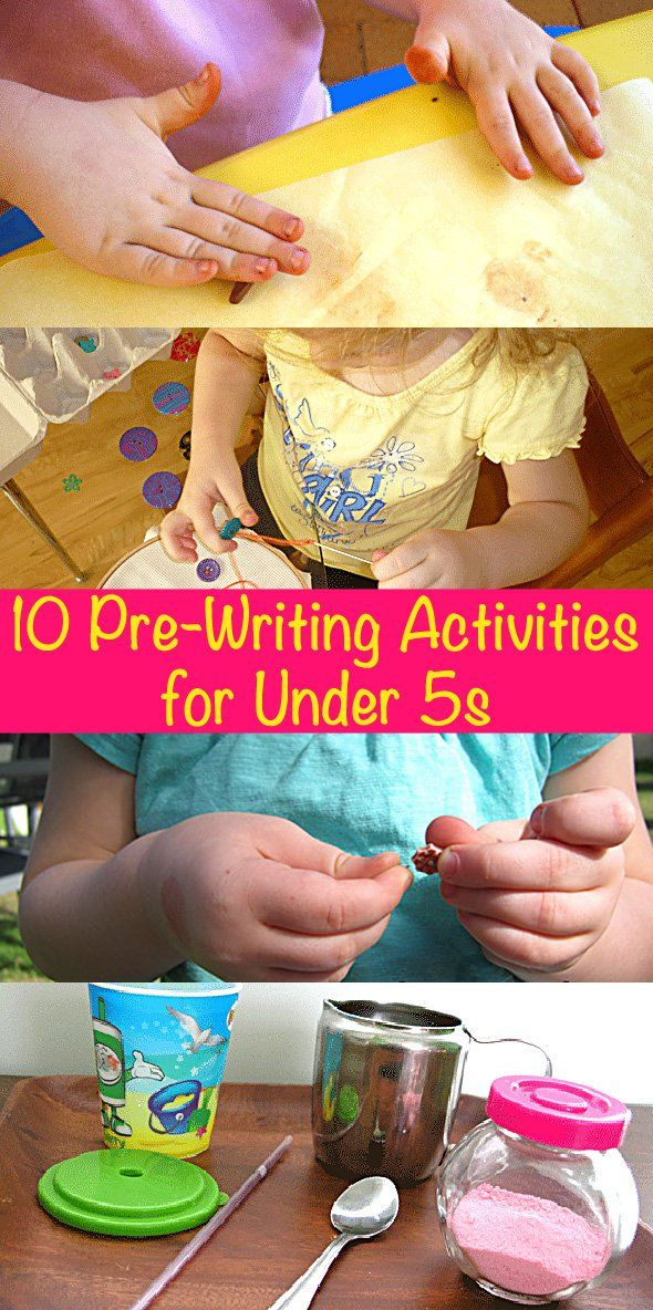 10 Pre-Writing Activities for Under 5s