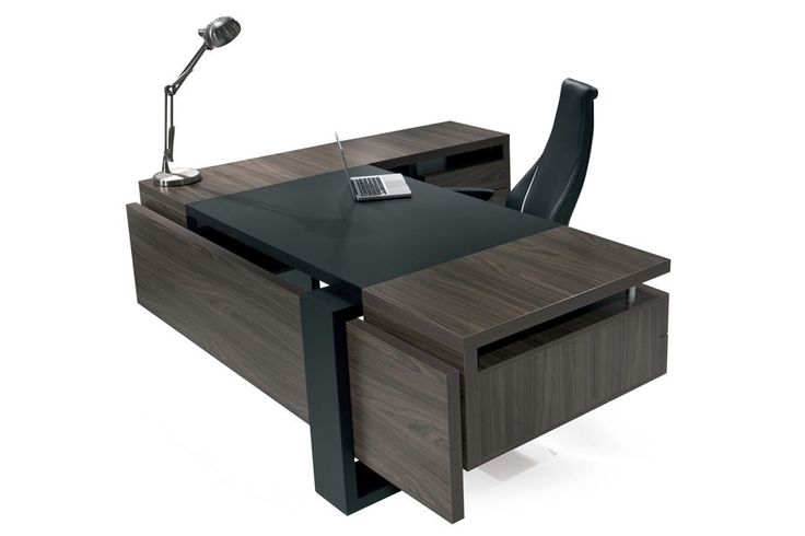 Executive desk / contemporary / in wood / commercial - FLAT - SOLENNE OFFICE FURNITURE