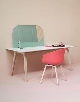 Koraal roze eetkamerstoel   Coral pink dinner chair #inrichten