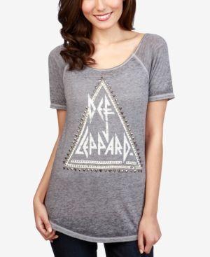 Lucky Brand Def Leppard Graphic-Print T-Shirt - Gray