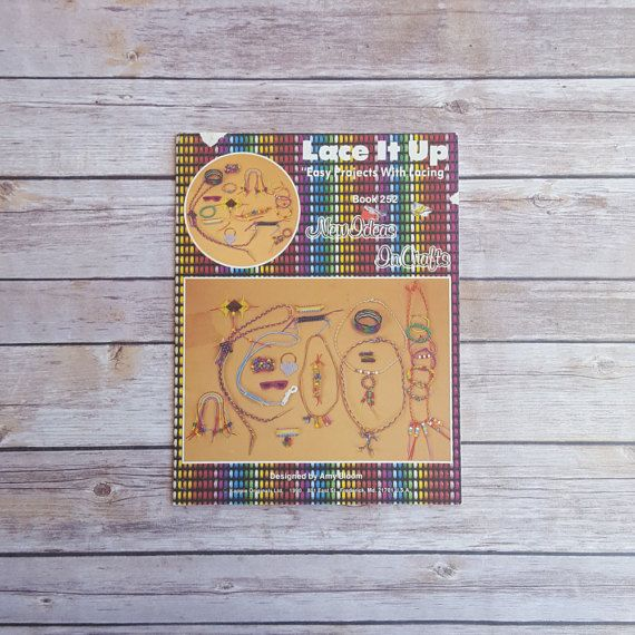 New in The Book Cottage: Lacing Project Book  Lace It Up  Easy Crafting Book  How to Make Keychains DIY Jewelry  90s Teen Fashion  1990s Crafting Book by TheBookCottage
