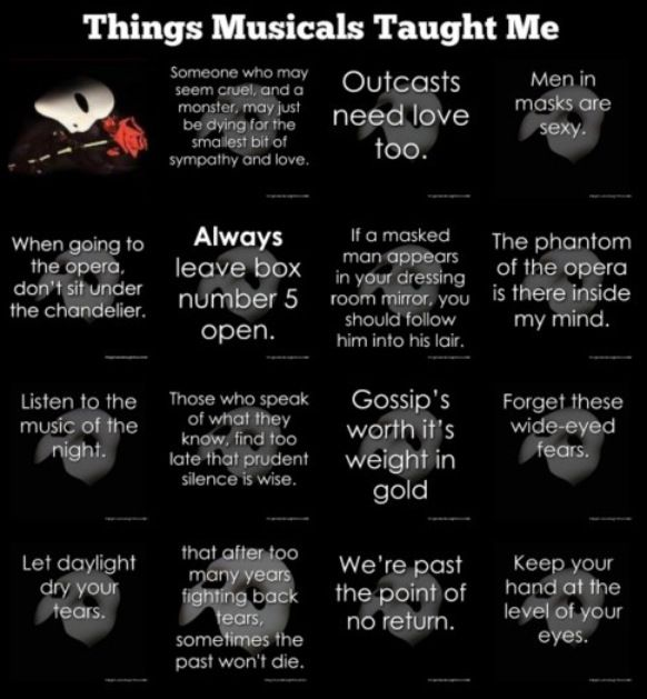 Things Musicals Taught Me: Phantom of the Opera✨