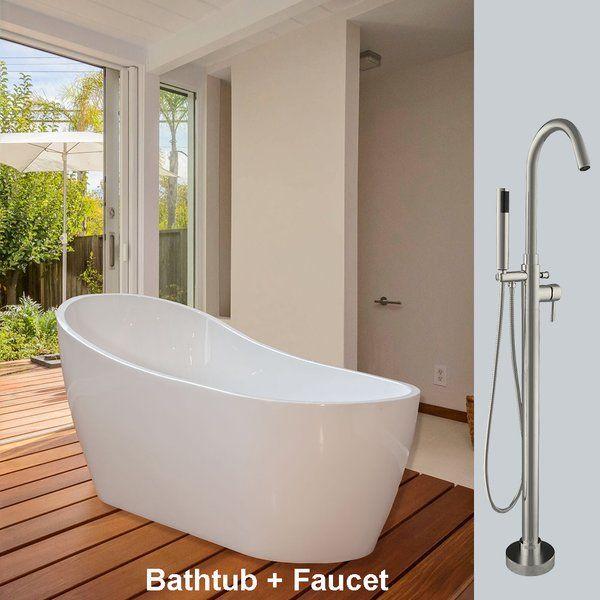 54 X 28 Freestanding Soaking Bathtub Soaking Bathtubs Small Soaking Tub Bathtub Remodel