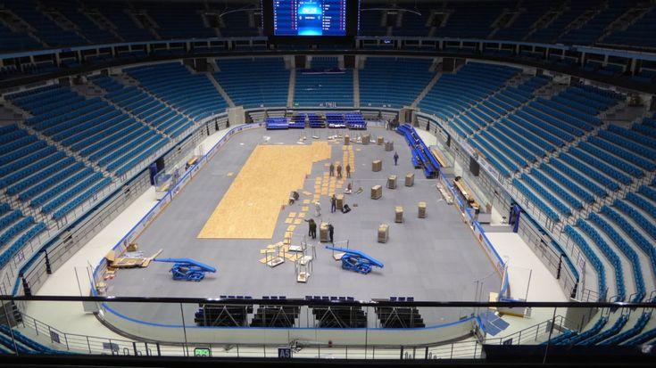 #kazakistan #astana #basket #arena #parquet #smontabile #dallariva