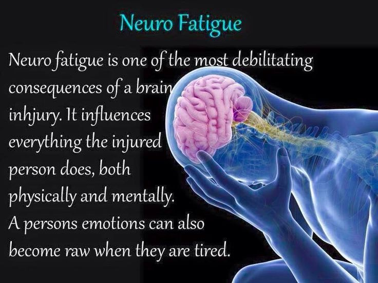 Fatigue, which is what people with brain injury often experience.: