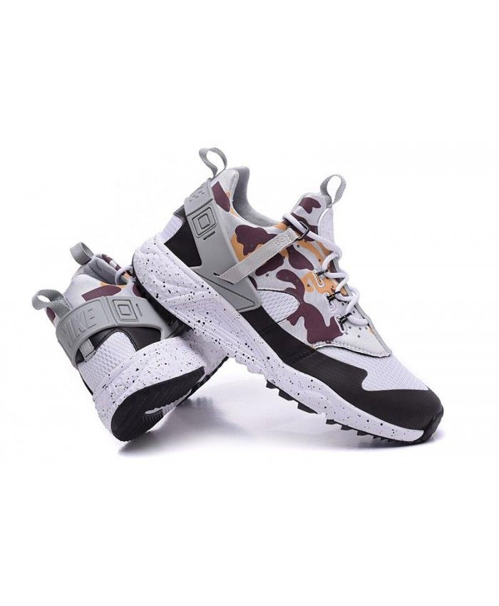 4fdad9db76ca Nike Air Huarache Utility Camouflage Gray Black Trainers
