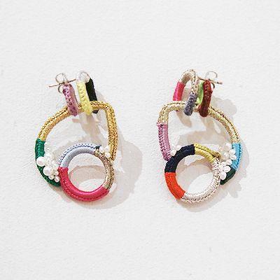 SHINGO MATSUSHITA. Repetition of shape unifies the earrings.