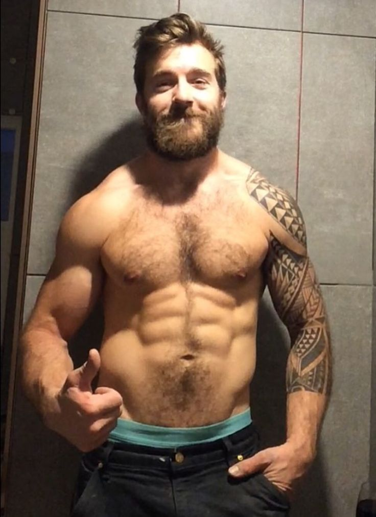 Fit hairy men