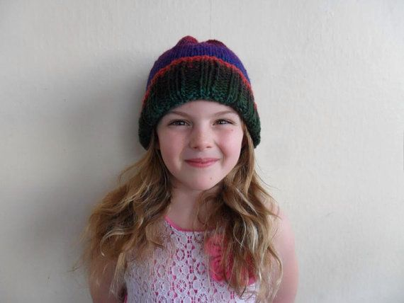 Kids knitted beanie  by RusticValley on Etsy