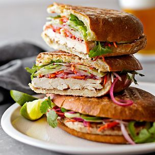 Vietnamese Grilled Chicken Sandwiches