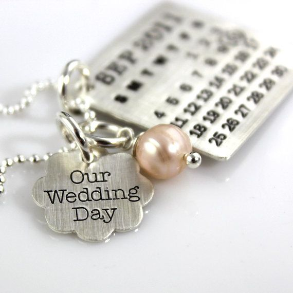 Mark Your Calendar Necklace with Our Wedding Day by PunkyJane, $98.00