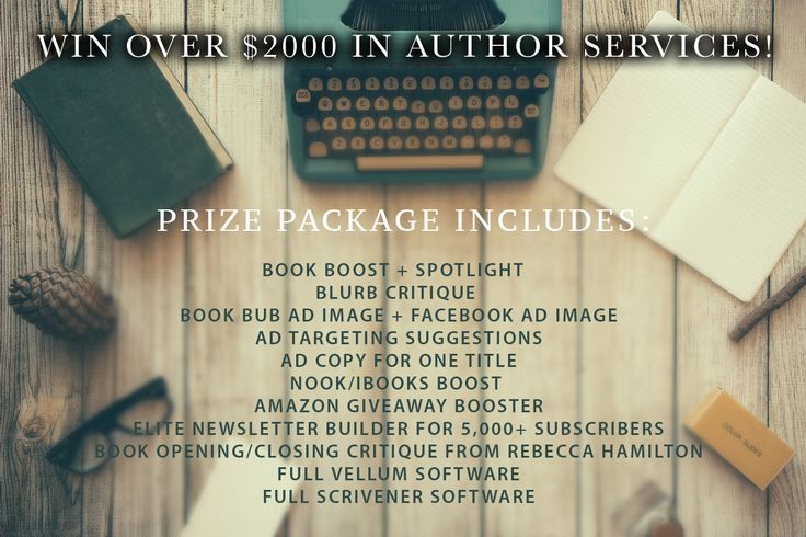Win Over $2000 in Author Services! #authors #writing #amwriting #amediting