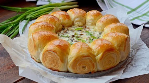 Булочки-малышки с сырно-грибной начинкой, пошаговый рецепт с фото