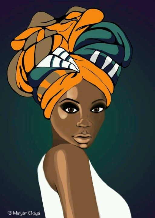 Head wrap illustration                                                                                                                                                     Más