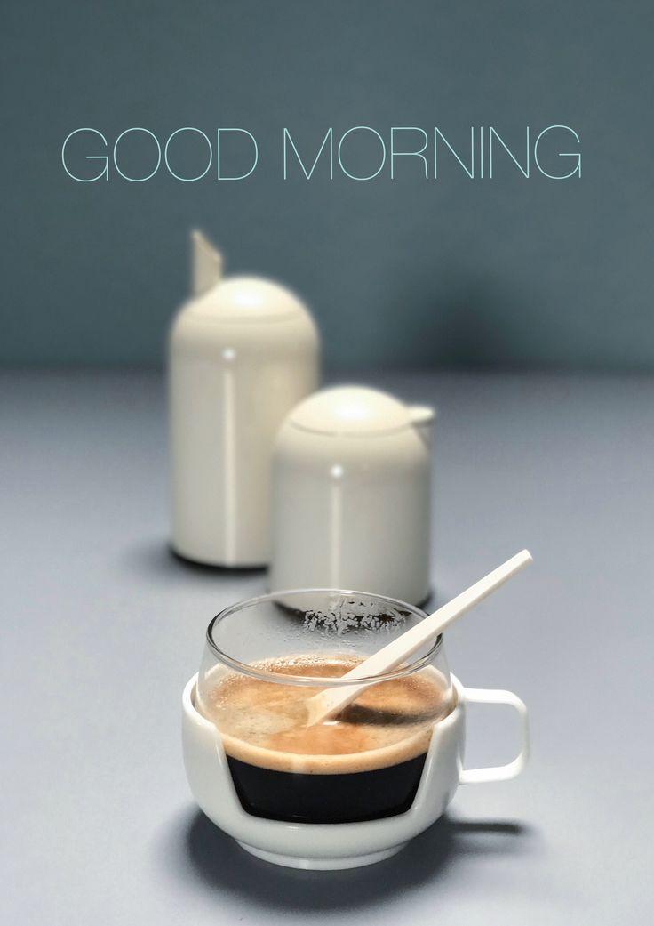 Space age coffee time. Cream & sugar set by Rosti-Mepal