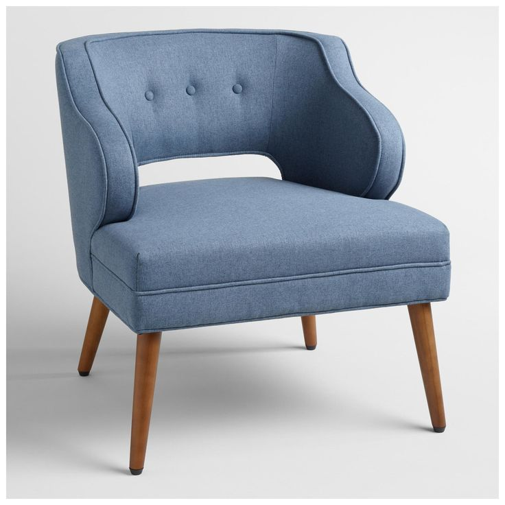 Cost Plus World Market Soft Blue Tyley Chair By World